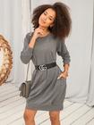 Bluzowa sukienka bez kaptura (4)