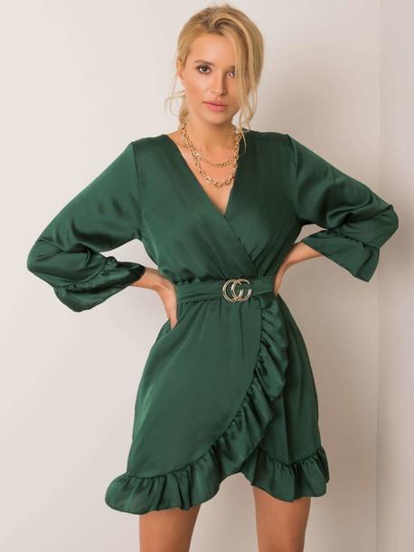 Sukienka Lola Butelkowa Zieleń (1)